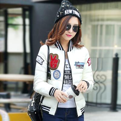 韩版时尚印花修身棉服