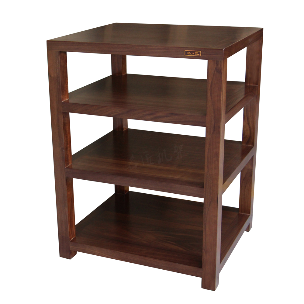 A Single Layer Of Four Walnut Master Standard Audio Frame Wood Frame Stereo  Audio Equipment Rack Cabinet
