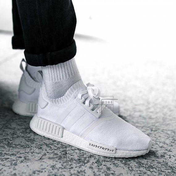 5153db78f Adidas NMD R1 PK Black Warrior White Black Japanese Men and Women Socks  Running Shoes CQ2040 BZ0221