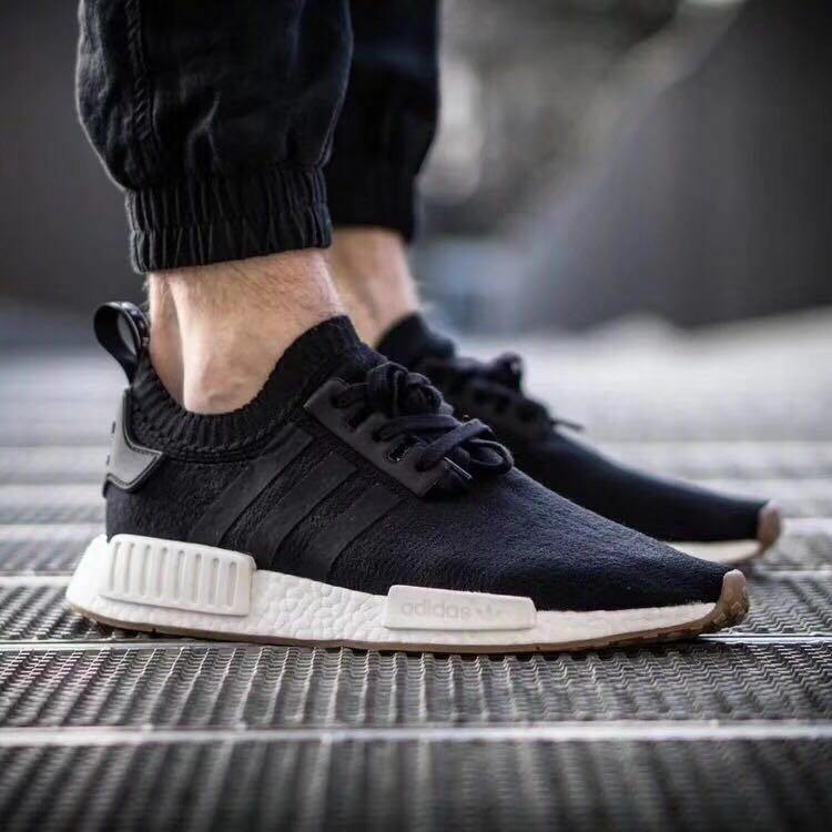 61a0e8cc8 ... Broken code clearance Adidas clover NMD Boost black and white powder  men and women running shoes