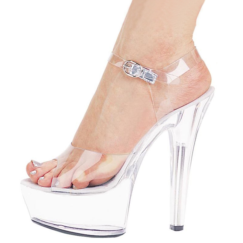 76eb27a23b8 Summer fashion shoes nightclub hate high crystal shoes 15cm cm high heel  sandals banquet performance shoes
