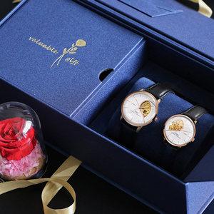 格雅正品机械情侣手表一对价刻字心形情侣表防水简约潮流男女手表