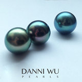Tahitian black pearls 12mm circular beads natural nude Tahitian pearls Miss DANNIWUPEARLS