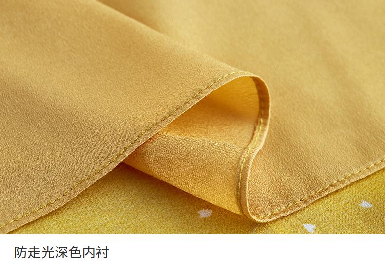 [2018] mới giá 149 nhân dân tệ mùa hè thanh lịch lá sen điểm sóng retro ngắn tay chiếc váy voan màu vàng