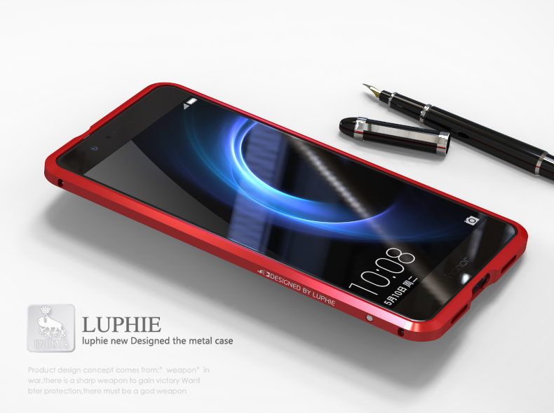 Luphie Blade Sword Slim Light Aluminum Bumper Metal Shell Case for Huawei Honor V8