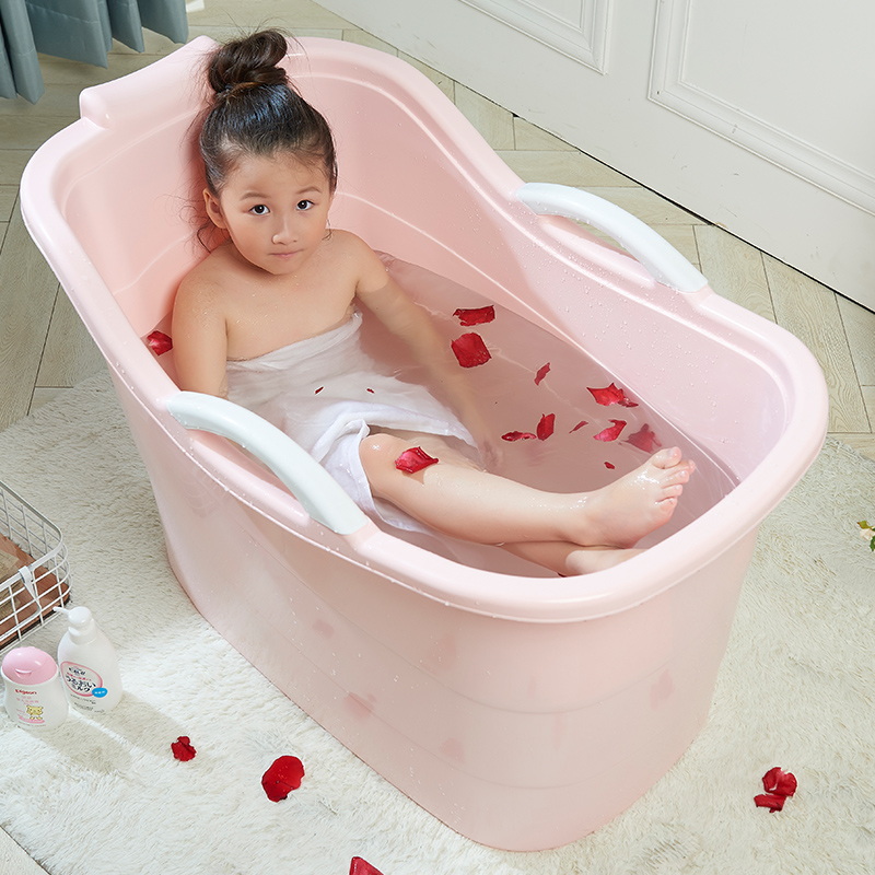 USD 33.96] Children bath bucket Large baby bath tub bath bucket ...