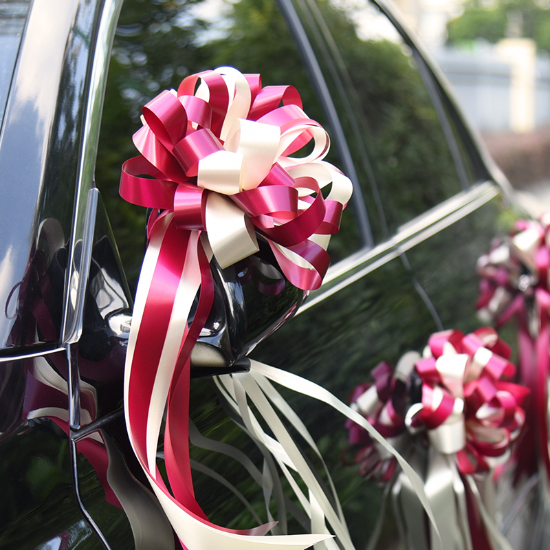 Wedding supplies Wedding car door pull flower Wedding wedding room decoration Gift packaging Ribbon color strip