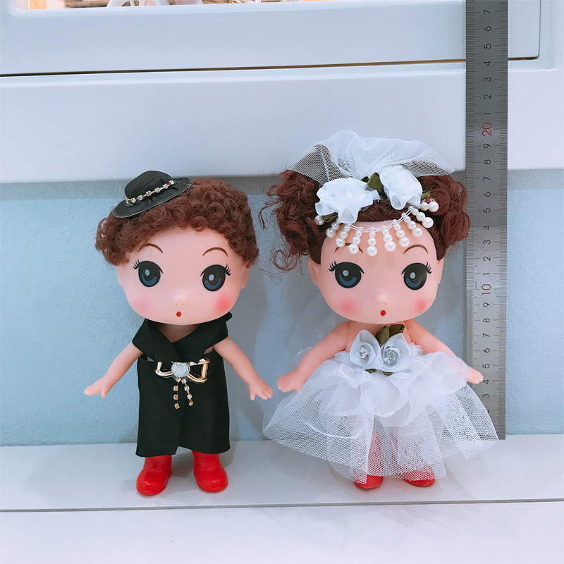 Wedding car decoration front doll A couple wedding bear wedding doll Float bear Wedding gift toy doll