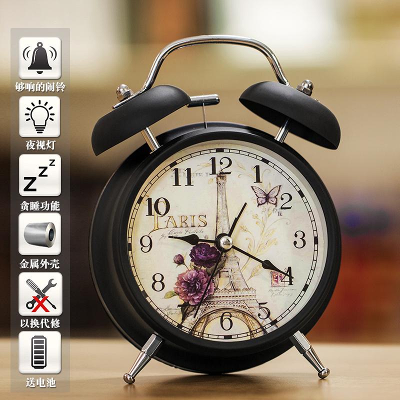 Безмолвная студенческая творческая прикроватная простота популярный Многофункциональный электронный пояс свет металлический Звонок будильник