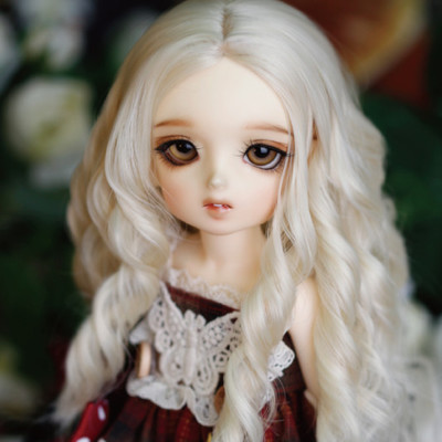 taobao agent 1/4 1/6BJD/SD doll doll wig 4 points 6 points up and straight down volume, scalp and long baby hair-GA29