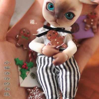 taobao agent ID Island Club BJD doll clothes 1/12 points BJD Kitty Luo Luo and Mianmian's official clothing set SZD12-1