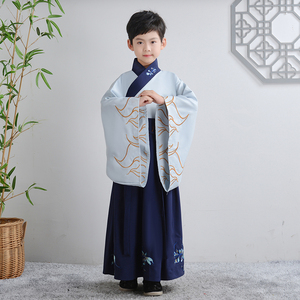 Tang Dynasty poet Du Fu cosplay performance clothes for kids scholar of ancient poetry recitation traditional Chinese culture shows costumes