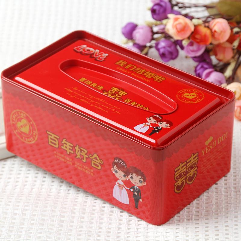 结婚婚礼伴手礼盒喜糖盒子铁盒套装 精美星型创意礼品盒手提袋子