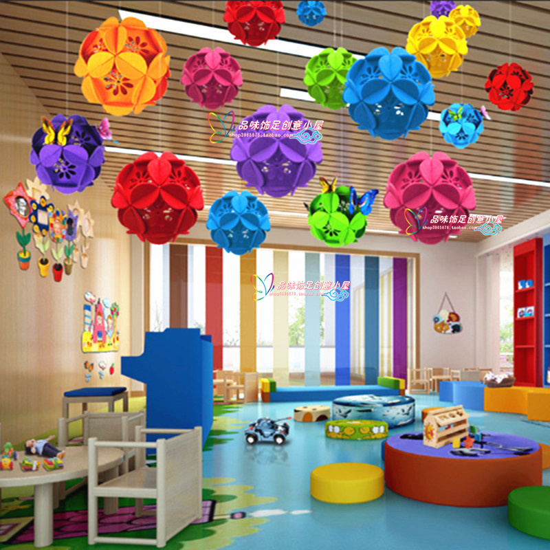 Kindergarten Classroom Hanging Decoration ~ Usd store opening ceremony decoration aerial