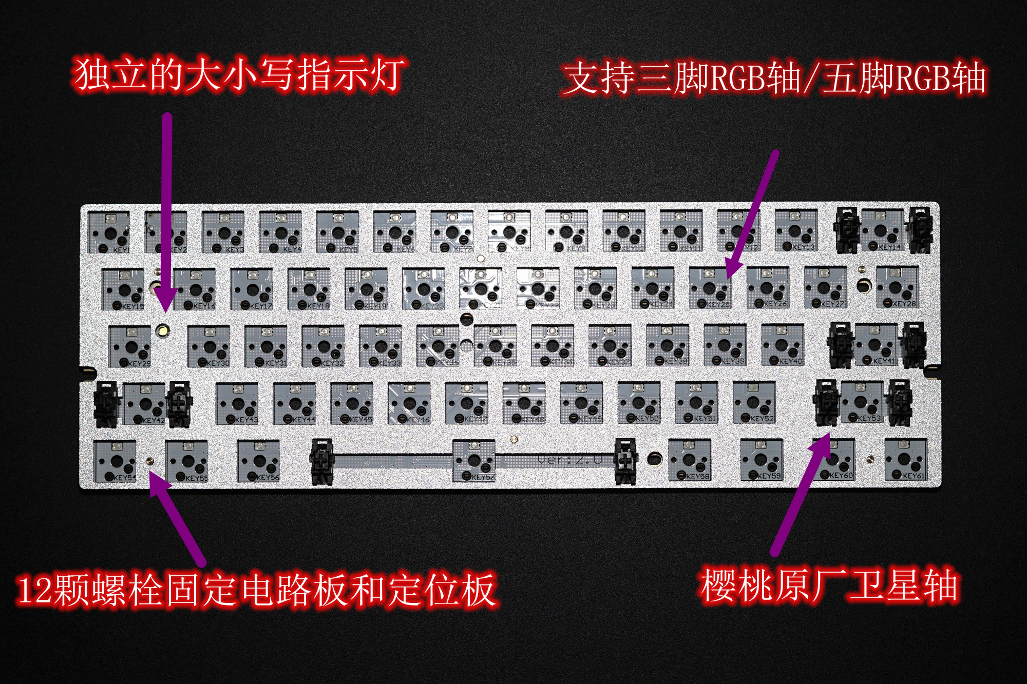 Mechanical keyboard PCB DIY kit JM60 GH60 circuit board mechanical keyboard  circuit board cherry
