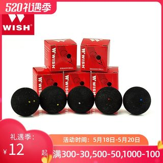 Wish WS-100 professional competition double yellow white red blue beginners squash training ball