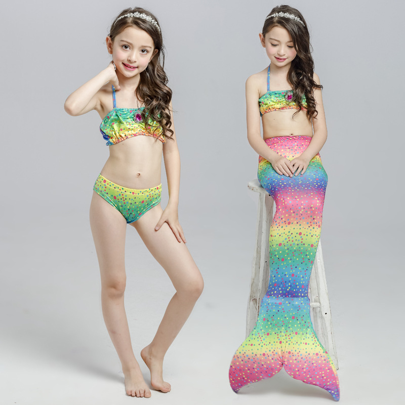 Mother & Kids New Childrens Mermaid Swimsuit Mermaid Tail Swimsuit Mermaid Costume Swimsuit Bikini Childrens Stage Dress Kids Birthday Gifts