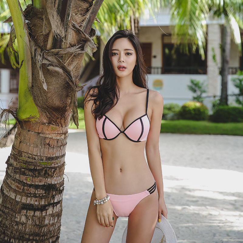girl flat chested bikini Asian