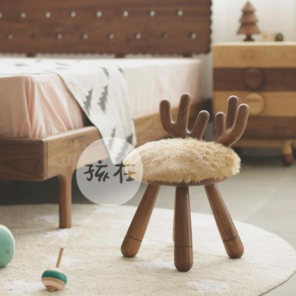 Ребенок подарок черный олень стул орех дерево лось спинка табуретка комод магазин творческий бесплатная доставка на форма