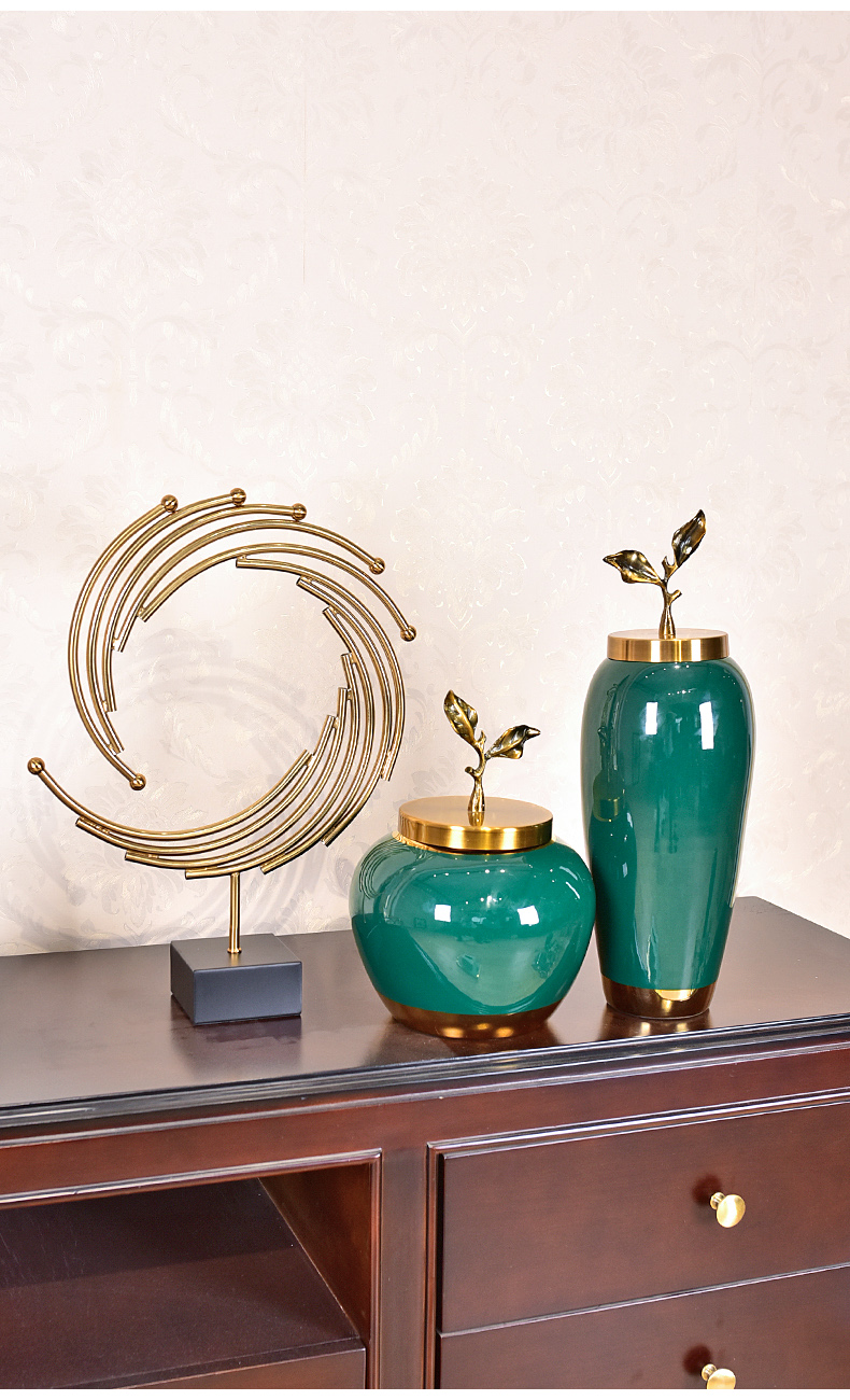 Modern light vase key-2 luxury furnishing articles high - grade of new Chinese style household act the role ofing is tasted American ceramic sitting room porch TV ark, adornment