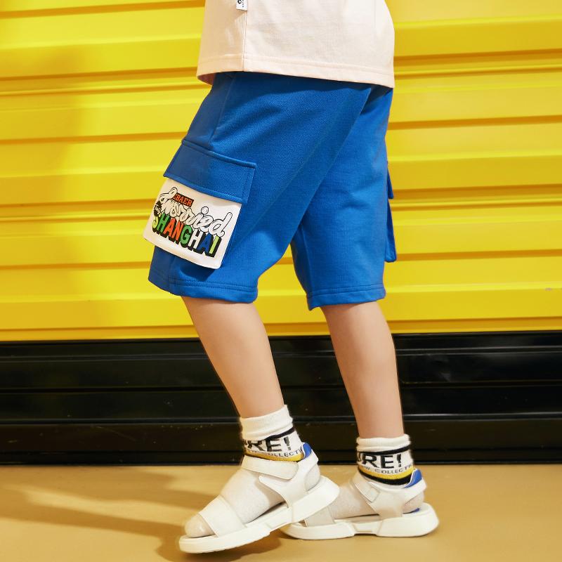 一贝皇城男童短裤夏装2020新款纯棉裤子外穿儿童中大童沙滩五分裤