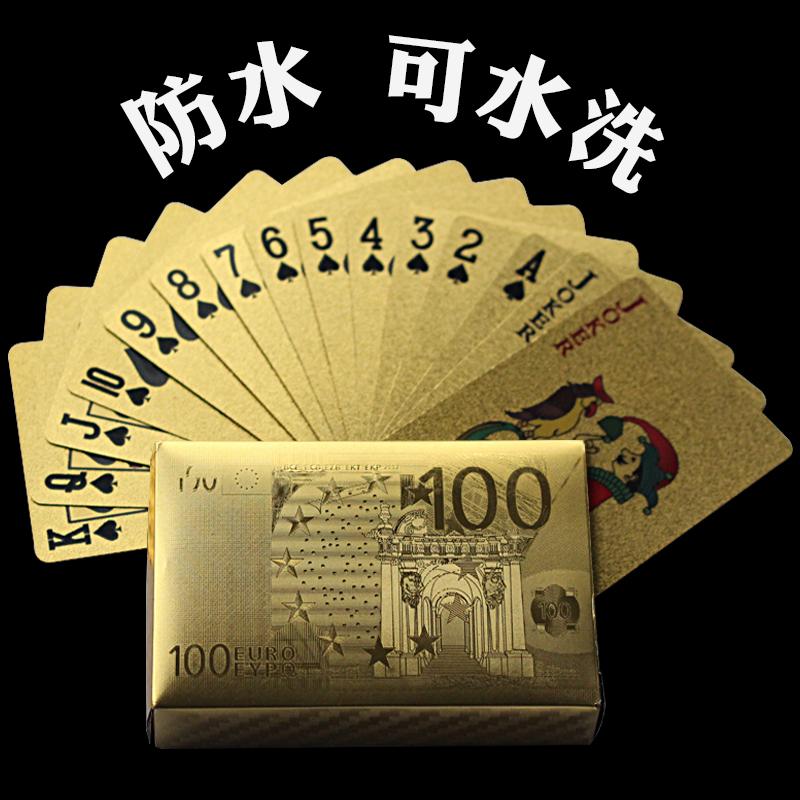 Водонепроницаемый моющиеся покер творческий личность мораль государственный покер бумага карты пластик для взрослых ребенок рыбалка символы золото