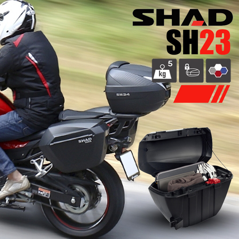 Charmant SHAD Motorcycle Side Box Side Box 23 Liters Universal Storage Box Rear  Quick Release