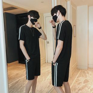 短袖男士T恤套装男装短裤两件套
