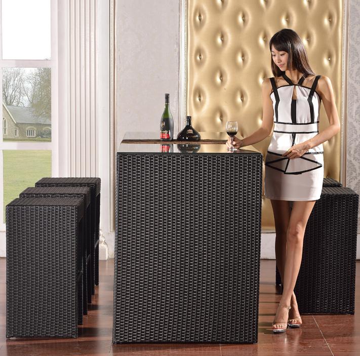 Барная стойка Ротанга бар стол бар стул бар стол и стулья барные стулья мебель для отдыха стол и стулья кофе обеденный стол стул табурет скамейке