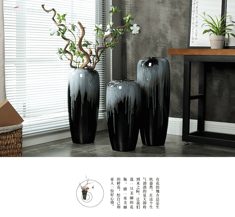 Jingdezhen Chinese style restoring ancient ways is the living room floor vase creative Europe type is resided ceramic jewelry ceramic dry flower is placed