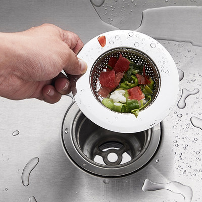 Kitchen Sink Garbage Filter Sewer Floor Drain Dish Basin Sink Sink Dish Bowl Lifting Net Hair Anti-blocking Filter