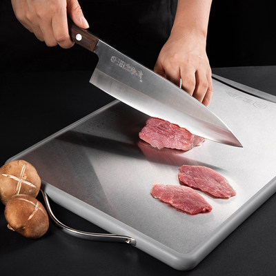 304 stainless steel cutting board household antibacterial anti-mildew cutting board kitchen fruit cutting board chopped meat steaming board double-sided cutting board