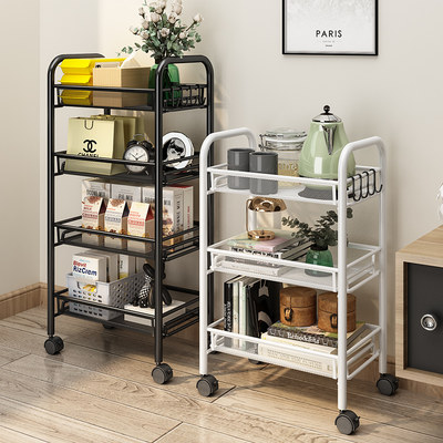 Living room small truck rack snack storage artifact bathroom floor multi-layer storage rack kitchen mobile dish basket
