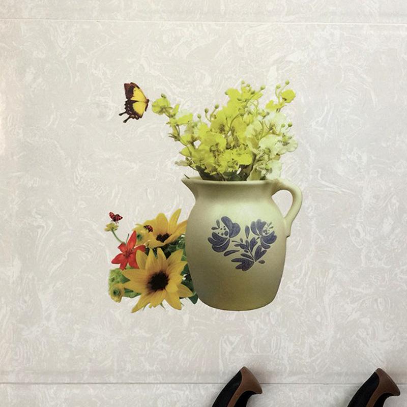 厨房防水瓷砖贴纸韩国创意装饰贴画浴室磁砖贴遮丑补洞贴水果咖啡