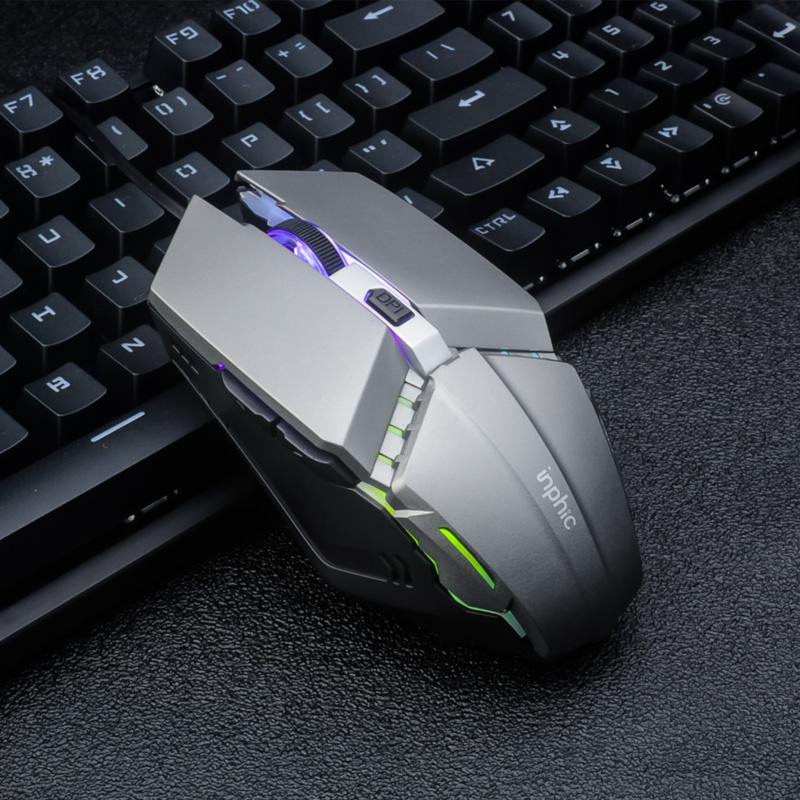 英菲克键盘鼠标套装真机械手感有线耳机三件套电竞游戏吃鸡家用台式笔记本电脑外设网吧专用办公用键鼠二lol