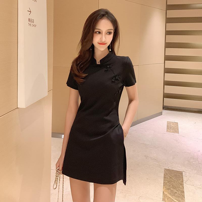 韩版新款气质时尚收腰显瘦改良版旗袍