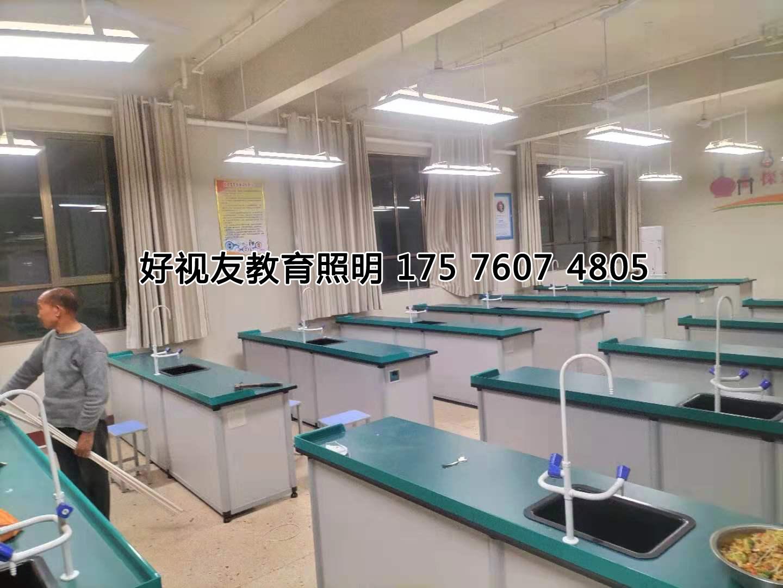 山东枣庄吴林中学实验室护眼灯光改造