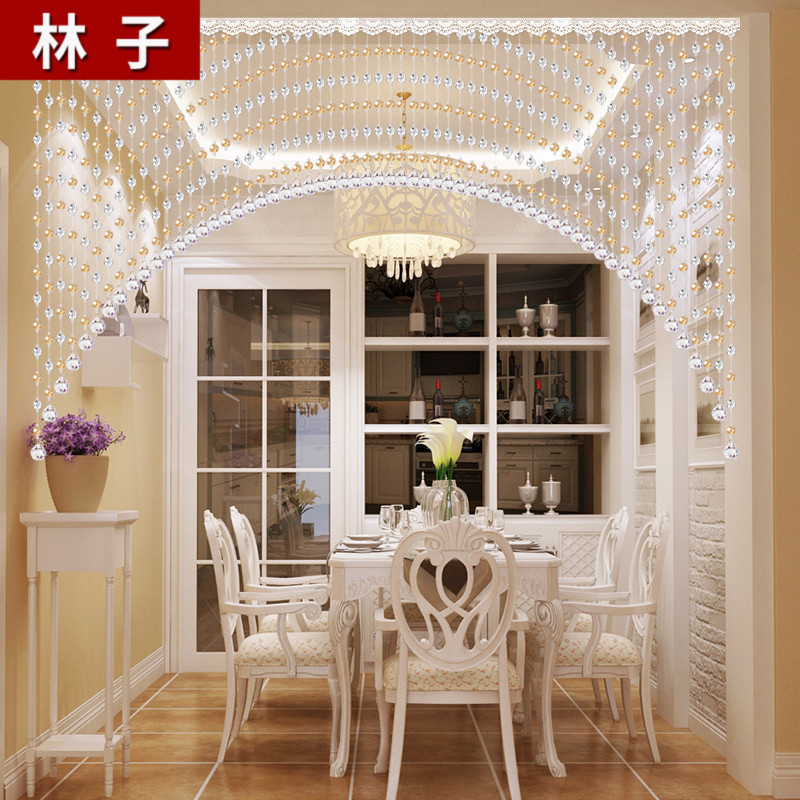 Beads Crystal Partition Curtain Living Room Entrance Bedroom Feng Shui Luxury Curved Decorative Chain