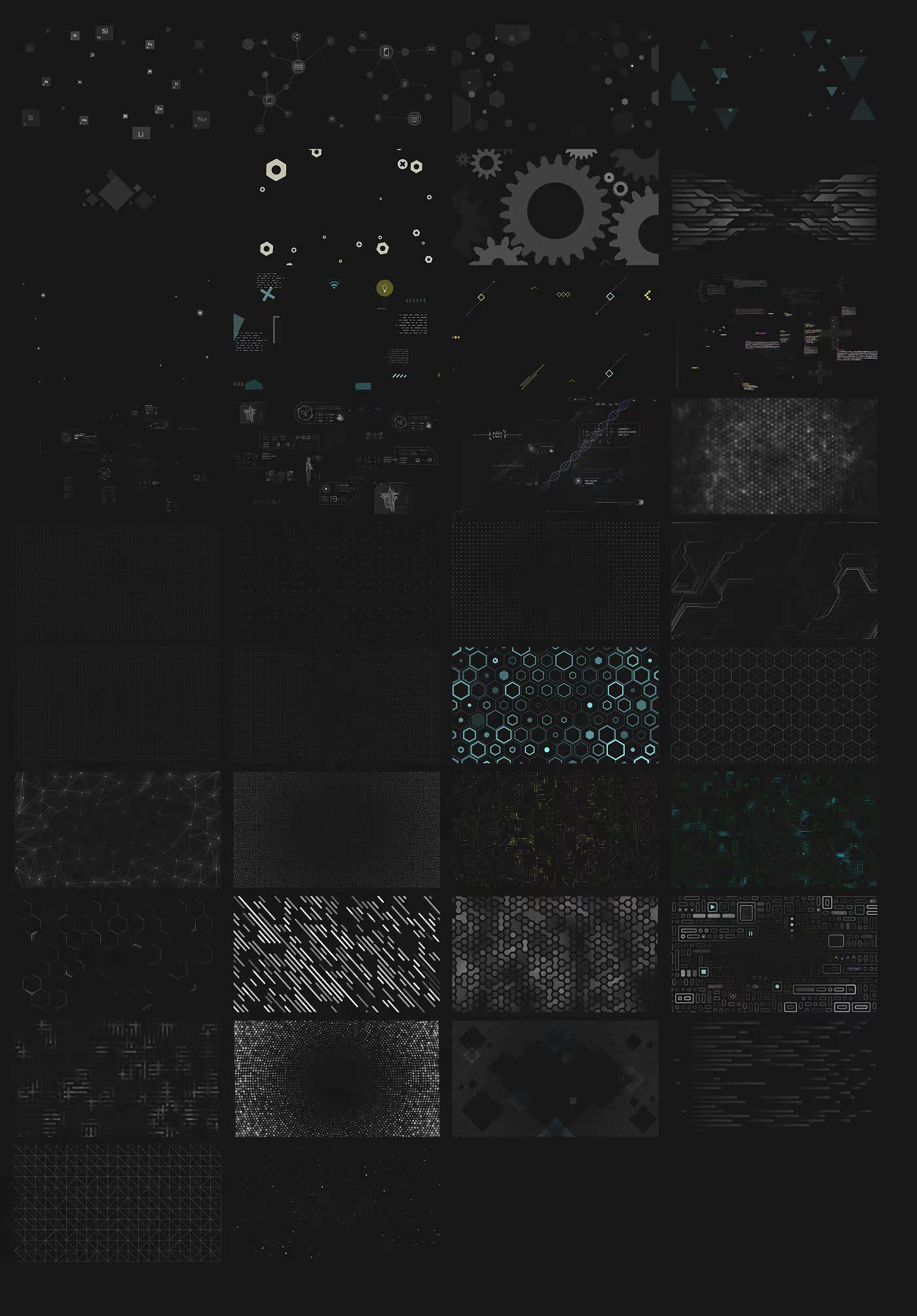 AE模板:高科技物理生物化学元素背景LOGO展示工具包