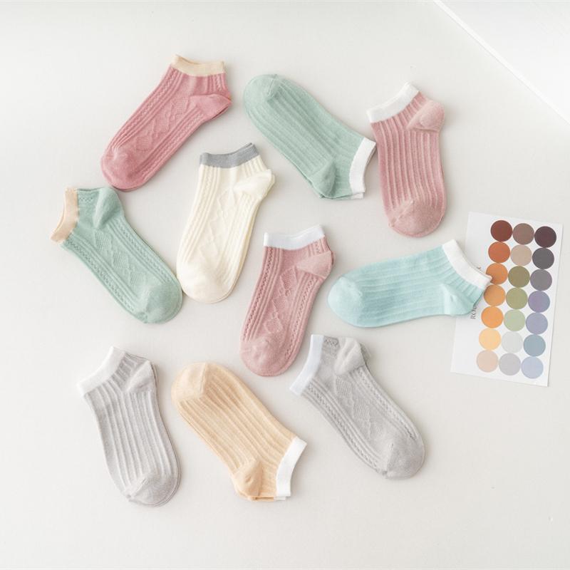 【5双装】网红日系防滑纯棉短袜