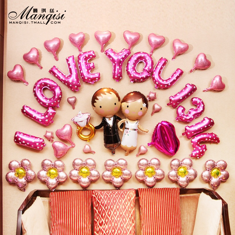 Balloon Decoration Wedding Wedding Decoration Scene Layout Pull