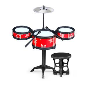 摇滚琴鼓组合爵士鼓儿童架子敲打乐器玩具儿童音乐鼓益智早教乐器