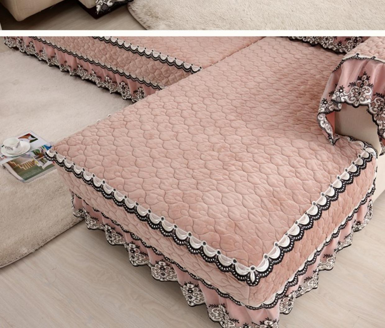 高档欧式加厚毛绒沙发垫简约现代欧式万能套全包沙发罩巾布艺防滑21张
