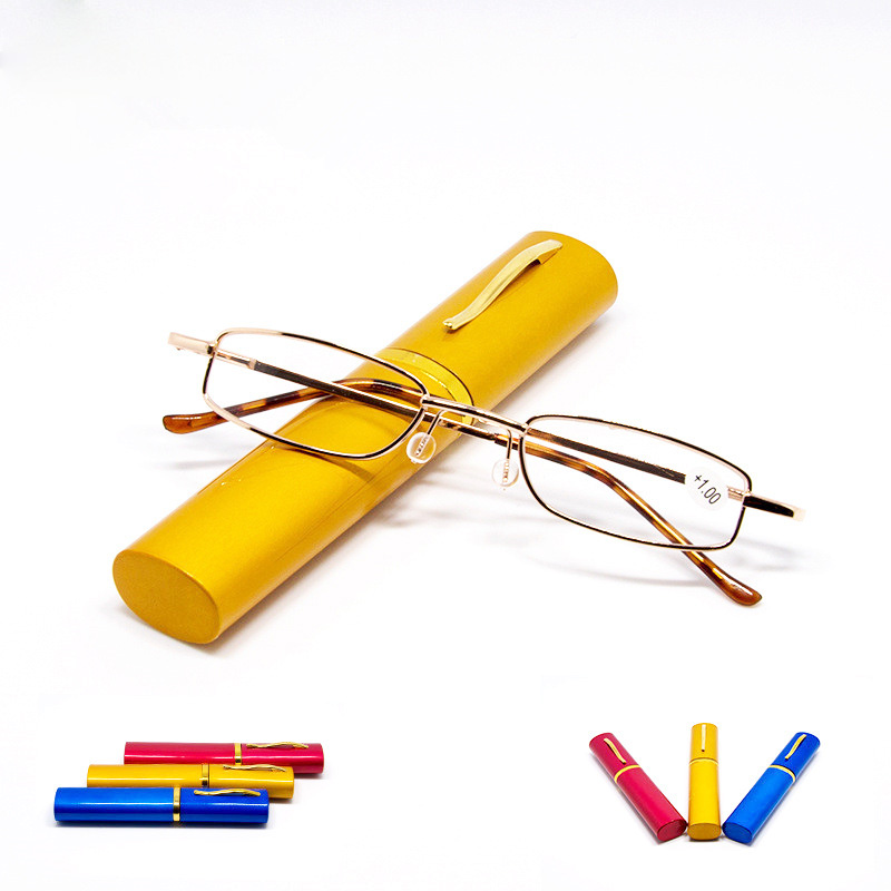 笔筒老花眼镜 男女 超轻便携 老视老光远视 树脂镜片