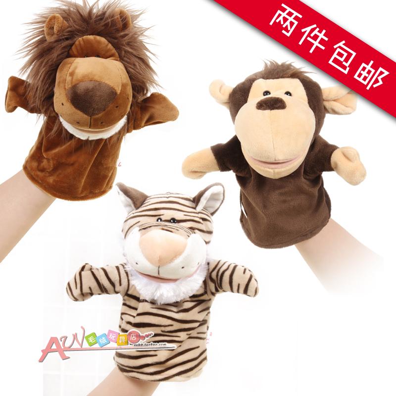 Животное марионетка отцовство игра головоломка плюш игрушка обезьяна рот может шаг ребенок мультики перчатки куклы