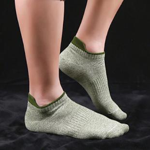 5双袜子男士短袜纯棉线低腰祙