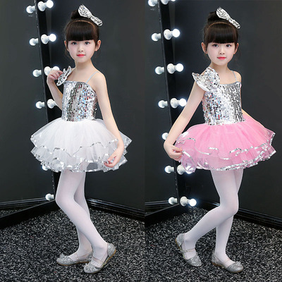 Chilen modern jazz dance costumes boys girls pink kindergartens school competition stage performance dresses