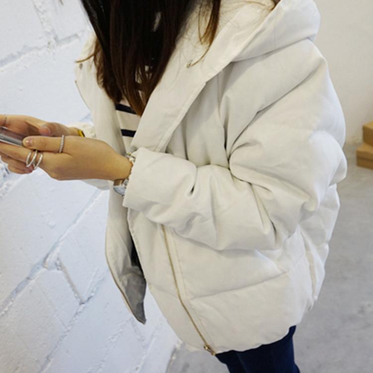 23新款韩版秋冬棉衣女面包服加大码短款学生保暖休闲连帽外套潮