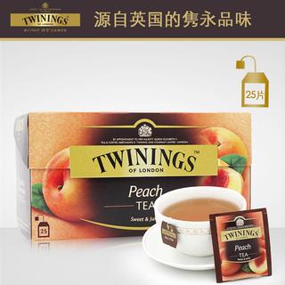 Красный чай,  Великобритания Twinings река довольно черный чай сочный персик фруктовый черный чай 25 лист фрукты чай фрукты чай импорт чай пакет, цена 529 руб