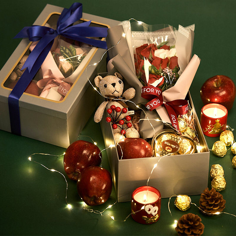 琳杰平安夜苹果礼盒圣诞节平安夜送女朋友创意礼物盒苹果盒送老婆